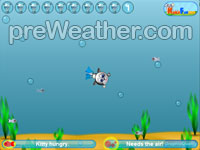 Cat Diver - Flash game
